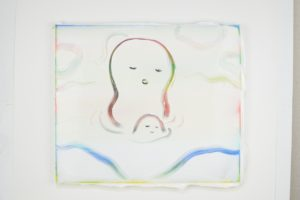 Peter McDonald, Night Queue, 2017 acrylic gouache on canvas 200 x 163 cm