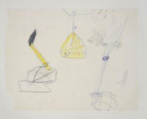 Zonder titel , 1996 Potlood en Kleurkrijd