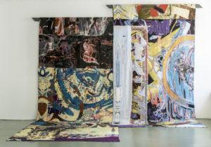 Gino Saccone Corridorri in Fuga Organic cotton jacquard tapestry, variabel 300 x 400 cm 2016
