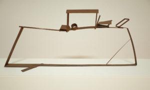 Auke de Vries zonder titel 74 x 12 x 30 cm onbeschilderd metaal