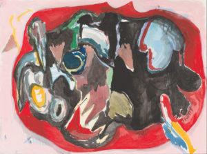 Gino Saccone watercolour on paper, 23 x 31 cm Tutti Frutti 2017