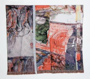 Gino Saccone 180 x 162 cm Organic cotton jacquard tapestry