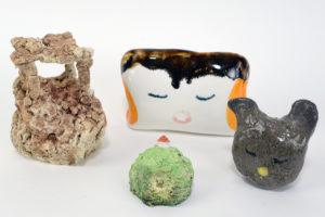 Kenichi Ogawa Untitled ceramics, 2019, friends, pillows, family, animal... (individual or set* set of 4, set of 3)