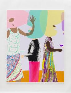 Peter McDonald Party, 2019 acrylic gouache on canvas, 200 x 160 cm