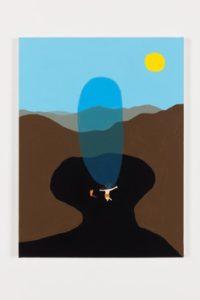 Peter McDonald Blockage , 2016 Acrylic gouache on canvas 94.5 x 81 cm