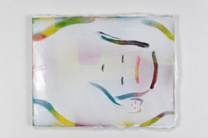 Kenichi Ogawa Untitled (sleeper) Silicon and oil color on canvas 41 x 33 cm 2020