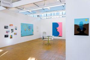 Installation view Art Rottredam 2020, Peter McDonald, Kenichi Ogawa, Guillaume Bijl, Gino Saccone
