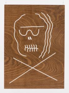 Dennis Tyfus Angst vor Musik, 2016  Engraved wooden panels 100 x 80 cm
