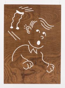 Dennis Tyfus 1 Stooge, 2016 Engraved wooden panels 100 x 80 cm