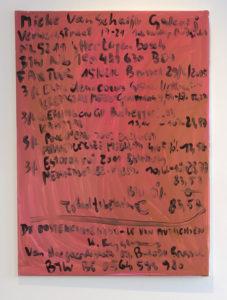 Kurt Ryslavy Facture décorative mono 121 – le monochrome avec son arrièreplan. économique,  (MONO121, 2018 (Brüssel) Öl auf Leinwand, 80 x 100 cm