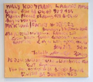 Kurt Ryslavy Facture décorative mono 121 – le monochrome avec son arrièreplan. économique,  (MONO121, Suchan Kinoshita), 2015 (Brüssel) Öl auf Leinwand, Scharniere 80 x 100 cm