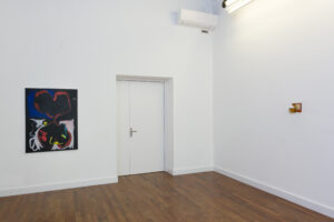 Installation view. Left Gino Saccone, right Alex Frost