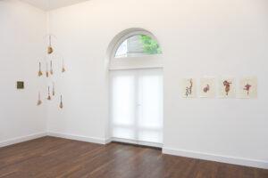 Installation view. Left Alex Frost, right Kasper de Vos