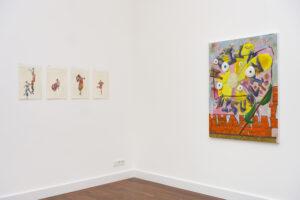 Installation view. Left Kasper de Vos, right Gino Saccone