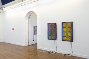 Installation viiew left Alex Frost, right Evelin Brosi & Elvis Bonier