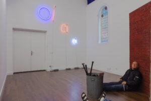 DENNIS TYFUS OI OI OI, 2020 neon 100 x 300 cm photo: We Document Art