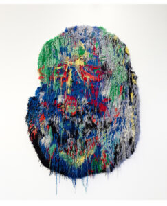 Caroline Achaintre,  Neptun, 2018, hand-tufted wool, 275 x 180