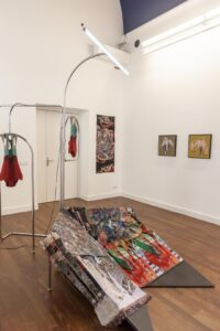 Installation view met Jelle Spruyt, Gino Saccone, pelican avenue
