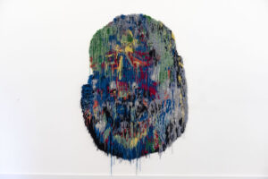Caroline Achaintre Neptun, 2018,  hand-tufted wool,  275 x 180 cm