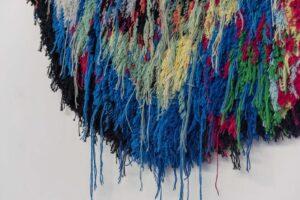 Caroline Achaintre DETAIL Neptun, 2018,  hand-tufted wool,  275 x 180 cm