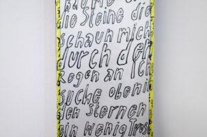 Svea Mausolf Wer nicht verrückt wird, der ist nicht normal Digital collage from stolen goods 18 x 180 cm 2020